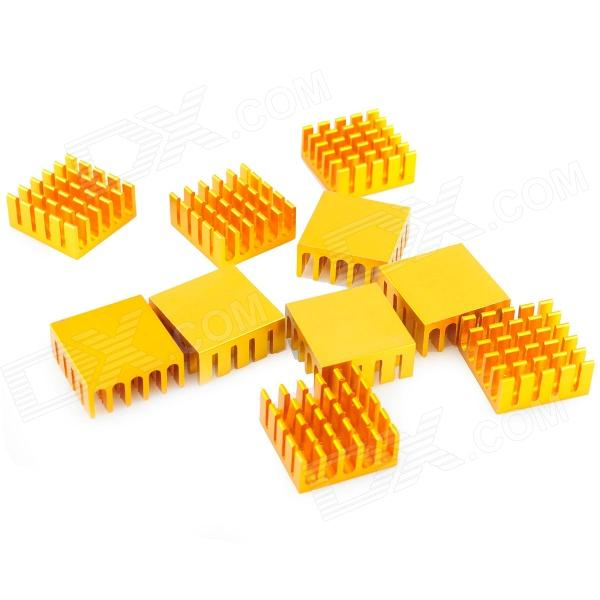 HZDZ L-65 Aluminum Radiator / Power Module Heat Sink - Golden (22 x 22 x 10mm) - DXDIY Parts &amp; Components<br>Pure aluminum heat sinks for electronics electrical module supporting the use of heat to play the role.<br>