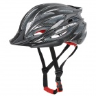 KUYOU Y-015 Bicycle Breathable PC + EPS Helmet - Dark Red + Black (Free Size)