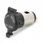 SC1.2 Waterproof Car / Motorcycle Cigarette Lighter Power Socket w/ 10A Fuse - Black + Multicolored