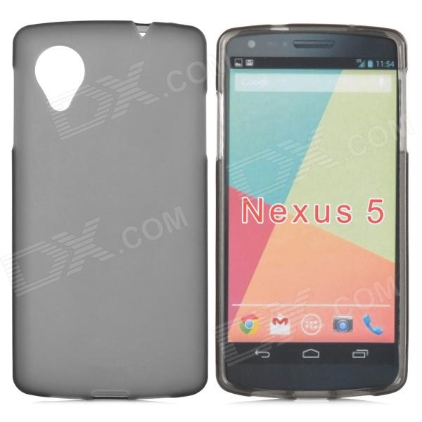 Protective Frosted TPU Back Case for LG Nexus 5 - Grey protective tpu back case for lg nexus 5 black