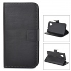 Protective PU Leather Case w/ Card Holder Slots for LG Nexus 5 - Black