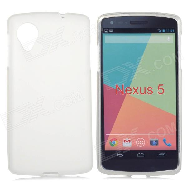 Protective Frosted TPU Back Case for LG Nexus 5 - White