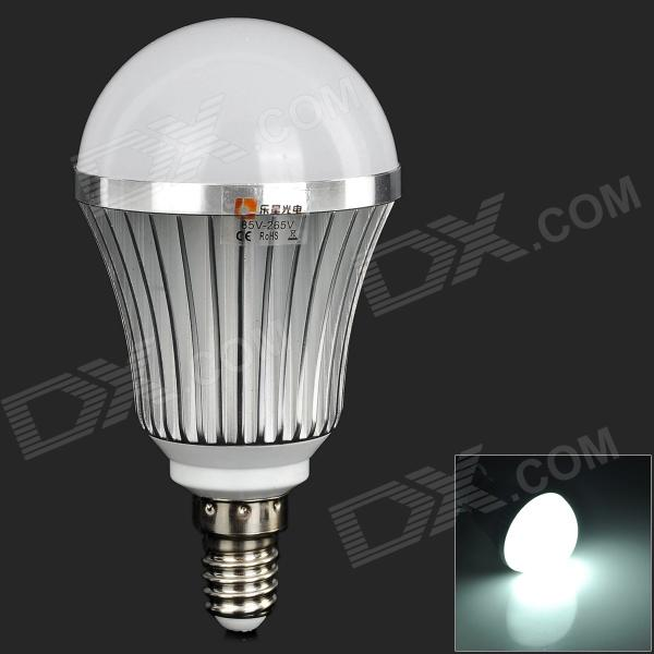 LeXing E14 7W 540lm 14-SMD 5730 LED White Light Bulb (AC 85~265V) lexing lx qp 20 e14 6w 470lm 3500k 15 5730 smd led warm white light dimmable lamp ac 220 240v
