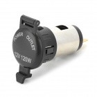 SC-1 Waterproof Car / Motorcycle Cigarette Lighter Power Socket - Black + Multicolored (DC 12~25V)