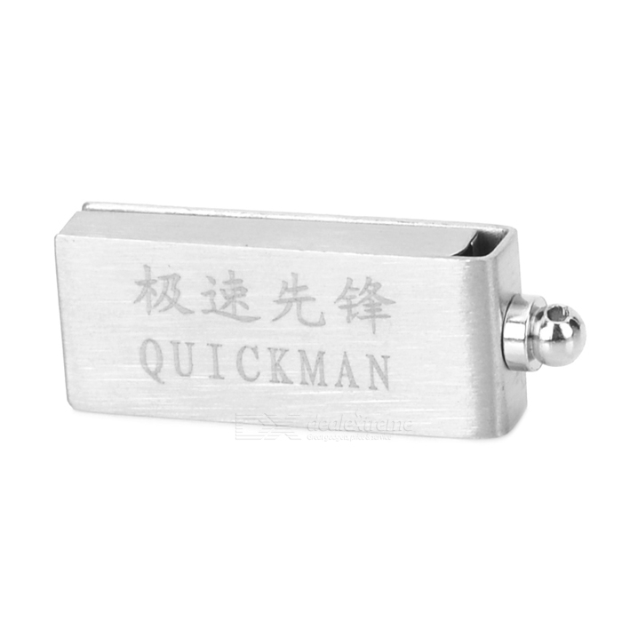 Stainless Steel + Plastic USB 2.0 Flash Drive - Silver (4GB)