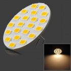 SENCART G4 4W 210lm 3000K 21-5730 SMD LED Warm White Car Lamp - White + Yellow (12~16V)