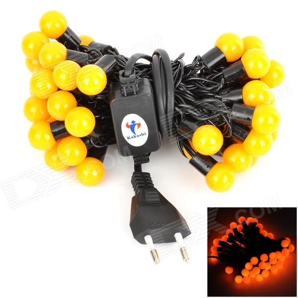 8W 300lm 50-LED Yellow String Ball Light (AC 220V / 5m / EU Plug)