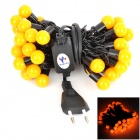 Kakashi PL-12 8W 300lm 50-LED Yellow String Ball Light (AC 220V / 5m / EU Plug)