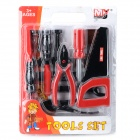 19-in-1 Educational Tools Set Toy for Kids - Dark Red + Black