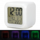 "Clock 2.8 ""Screen-Digital-Wecker w / Mood Light - Weiß (3 x AAA)"