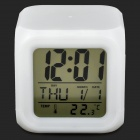 "2.8"" Screen Digital Alarm Clock w/ Mood Light - White (3 x AAA)"