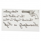 Rock Pistol Letter Water Resistant Temporary Body Tattoo Sticker