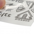 Water Resistant Temporary Tattoo Paper Sticker - White + Black
