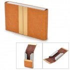 Fashion Lichee Pattern Double Sided PU Leather Card Holder - Orange