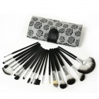 Wonderful Rose 18-in-1 Professional Makeup Brush Set - Black