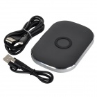 T-300 Efficient 3-coil 5V Wireless Charging Transmitter for Cellphone - Black + Silver