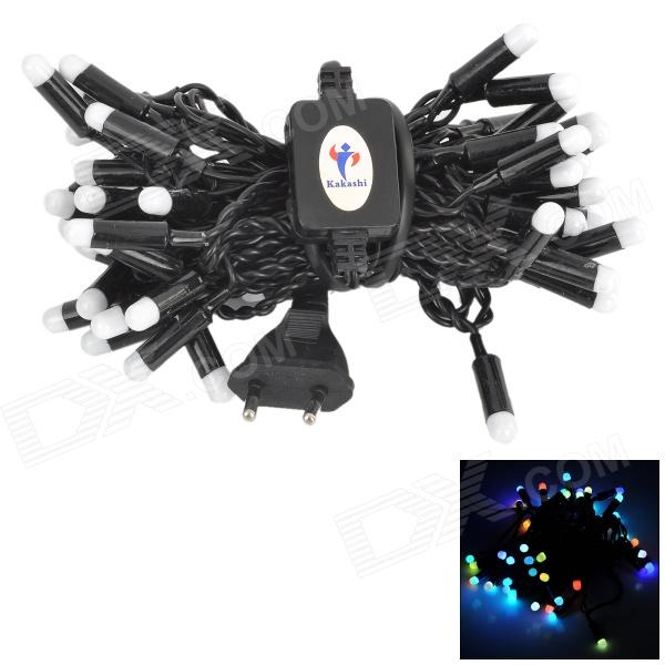 Kakashi PL-02 4W 300lm Colorful 50-LED String Light for Festival (AC 220V / 5m / EU Plug)