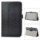 Stylish Flip-open PU Leather Case w/ Holder for LG G Pad 8.3 - Black
