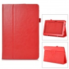 Stylish Flip-open PU Leather Case w/ Holder + Pen Space for ASUS T100 - Red