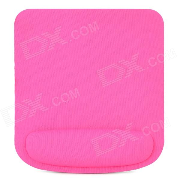 Cloth + EVA Computer Mouse Pad - Deep Pink + Black