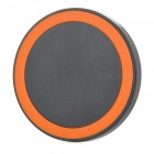T200 Round Style Wireless Charger w/ Anti-slip Ring - Black + Orange
