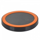 Round Style Wireless Charger w/ Anti-slip Ring - Black + Orange