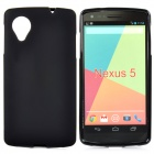 Protective Frosted TPU Back Case for LG Nexus 5 - Black