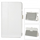 Stylish Flip-open PU Leather Case w/ Holder for LG G Pad 8.3 - White