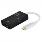 CSZ01 SlimPort a HDMI cable adaptador - negro + blanco