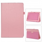 Stylish Flip-open PU Leather Case w/ Holder + Pen Space for ASUS T100 - Pink