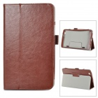 Stylish Flip-open PU Leather Case w/ Holder for LG G Pad 8.3 - Dark Brown