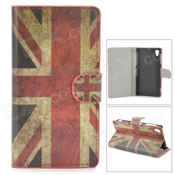 Retro UK National Flag Style Protective PU Leather Case for Sony L39h Xperia Z1 / Xperia i1 - Red temei ultrathin protective tpu back case for sony xperia z1 l39h red