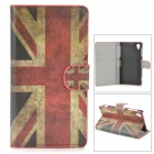 Retro UK National Flag Style Protective PU Leather Case for Sony L39h Xperia Z1 / Xperia i1 - Red