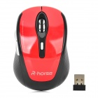 RH5255 2.4GHz Wireless 800 / 1600dpi Gaming Mouse - Black + Red (2 x AAA)