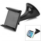 Universal 360 Degree Rotary Plastic Car Mount Holder w/ Suction Cup for Cellphones - Black