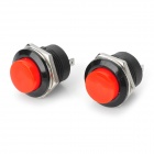 6A PA66 Self-resetting Push Button Switches - Red (2 PCS / 125~250V)