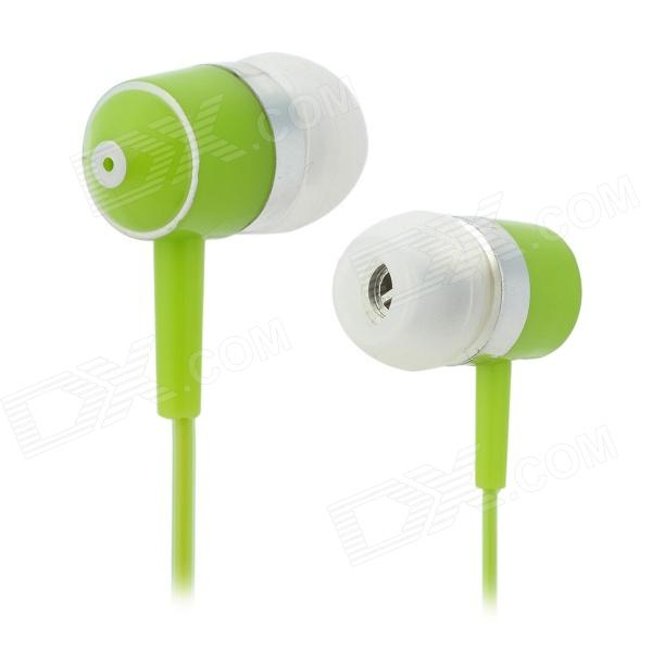 HSL-2220 In-Ear MP3 Earphone w/ 3.5mm Plug - Light Green