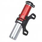 PROSTAR JG-1029-C Aluminum Compact Bike Air Pump w/ Valves for MTB - Red + Silver