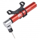 PROSTAR JG-1016-A Mini Portable Bicycle Air Pump for MTB - Red + Silver