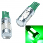 CHEERLINK T10-H5G T10 7.5W 400lm 5-LED Green Light Car Backup Light / Clearance Lamp - (2 PCS / 12V)