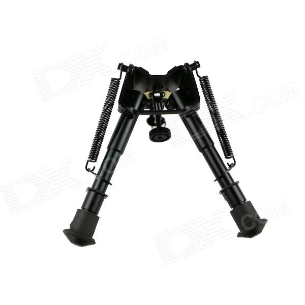ACCU 6 Retractable Aluminum Alloy Tactical Spring Loaded Bipod Rifle Stand for M4 / M16 (Max. 80Kg) 6 aluminum alloy tactical bipod w extendable leg for guns black