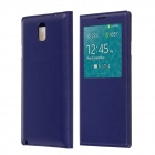 Protective PU Leather Case Cover w/ Visual Window / Auto-Sleep for Samsung Galaxy Note 3 N9000 -Blue