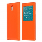 Protective PU Leather Case Cover w/ Visual Window / Auto-Sleep for Samsung Galaxy Note 3 - Orange