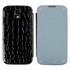 Stylish Mirror + Crocodile Grain Pattern Flip-open Protective PU Leather Case for Samsung Galaxy S4