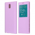 Protective PU Leather Case Cover w/ Visual Window/Auto-Sleep for Samsung Galaxy Note 3 N9000 - Pink