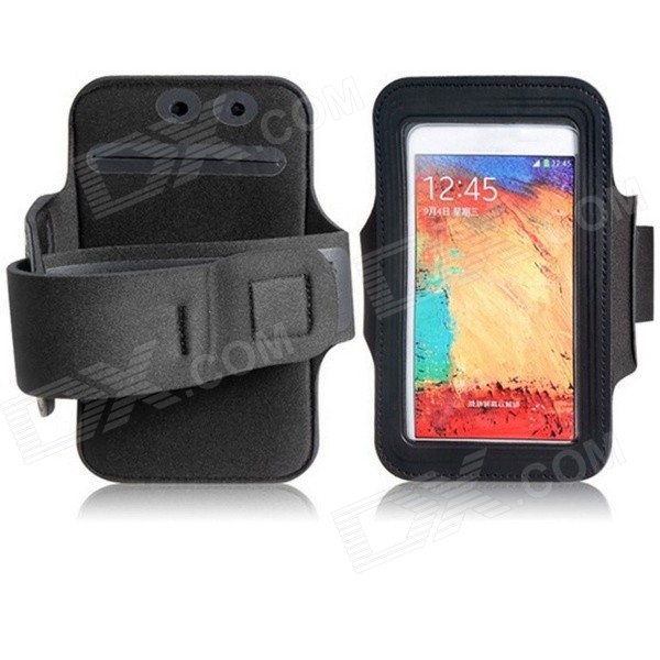 Protective Neoprene Sports Armband for Samsung Galaxy Note 3 N9000 - Black клип кейс icover illuminator для apple iphone se 5 5s матовый желтый