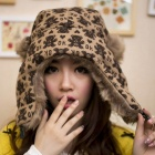 Fashion Women's Little Bear Pattern Warm Hat - Brown