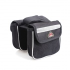 Fly Wolf Knight Small Bicycle Top Tube Double Nylon Bag - Black + White