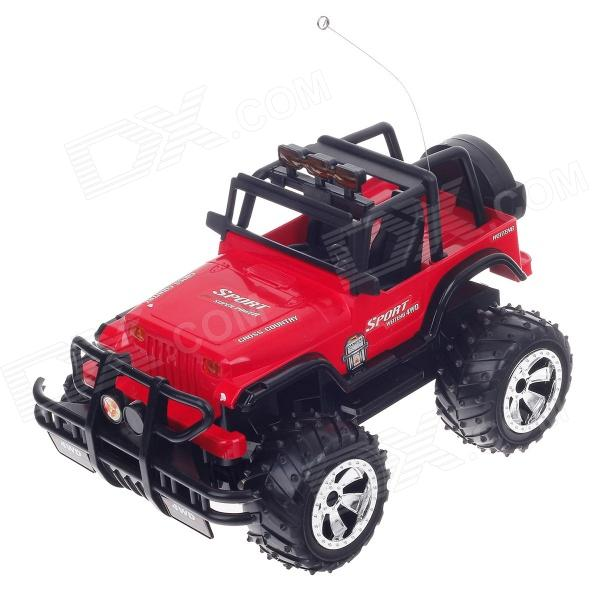 WEITENG 358A 1:14 Scale Remote Controlled R/C Cross-Country Jeep - Red + Black