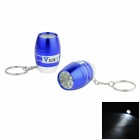 WaLangTing Water Resistant 6-LED White Flashlight Keychain - Blue+ Silver (2 x CR2032 / 2 PCS)